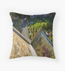 St. Annes Church Graveyard Throw Pillow