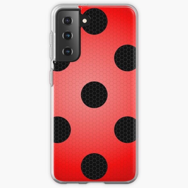Ladybug Spotted Hexagon Pattern Samsung Galaxy Soft Case