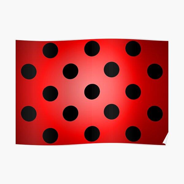 Ladybug Spotted Pattern Poster