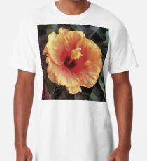 Chinese Rose Flower Long T-Shirt