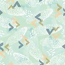 birds of a feather abstract pattern  by SueHalstead