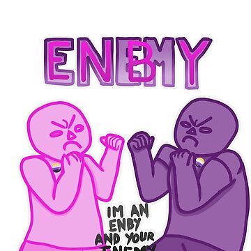Graphic Tee - Enemy Enby - Enemby by StarCrytid