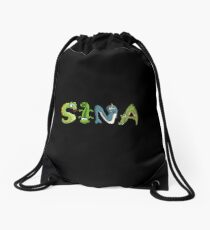 Sina Animal Sticker Drawstring Bag