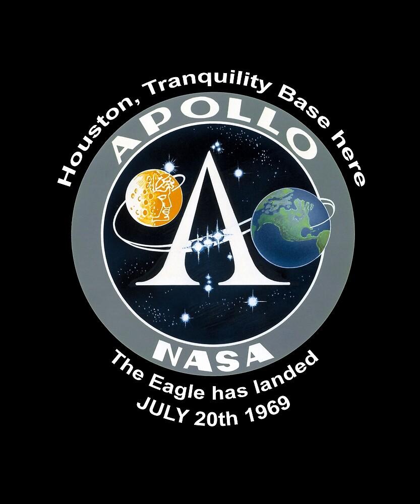 NASA Apollo Program Patch The Eagle has landed by Merch-Tees