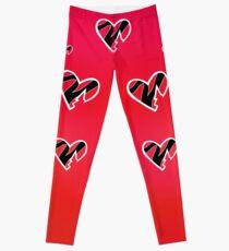 HBK Red Gradient Heart Leggings