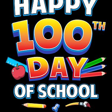 Happy 100th Day of School Fun Teacher Child Gift by JapaneseInkArt