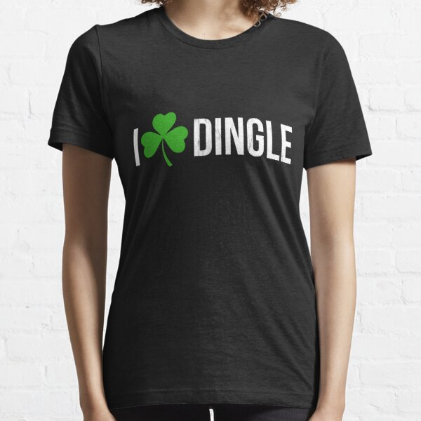 Dingle Ireland Print Irish Shamrock Heart Essential T-Shirt