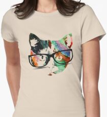 Hipster calico kitty cat T-Shirt