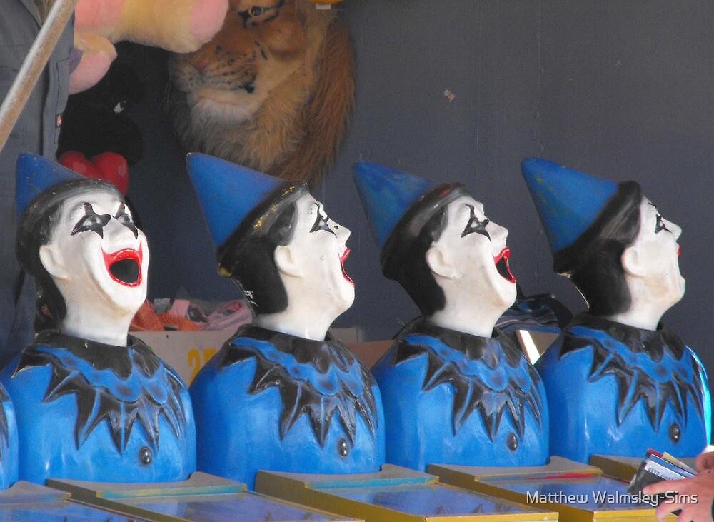 Four Clowns by Matthew Walmsley-Sims