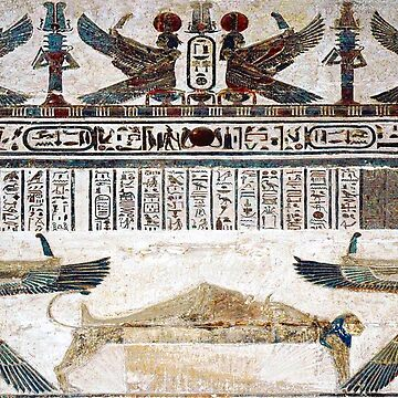 Ancient Egypt. Temple decoration at Dendera, by TOMSREDBUBBLE