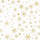 Twinkle Snowflake 3 -Gold & White- by lematworks