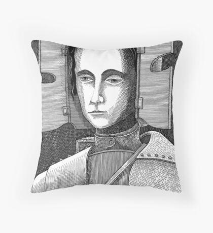 White Knight Throw Pillow