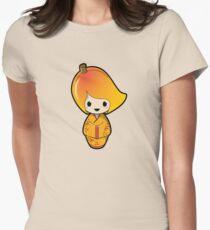 Mango Kokeshi Doll Womens Fitted T-Shirt