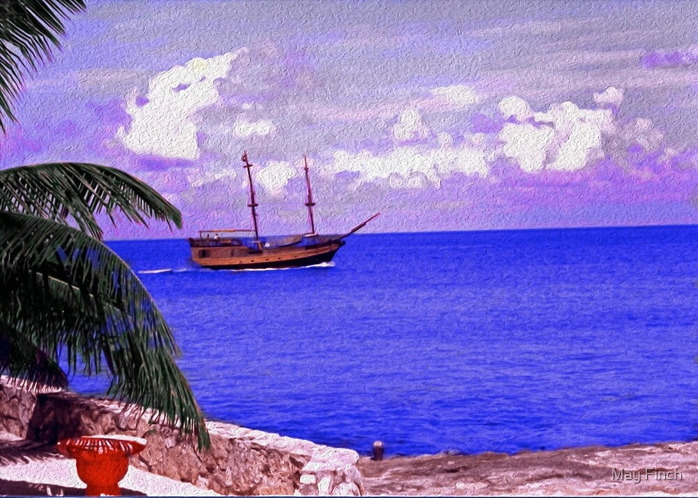 Shrimp Boat in the Caribbean by May Finch