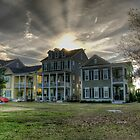 Market Common Sun Over House by TJ Baccari Photography