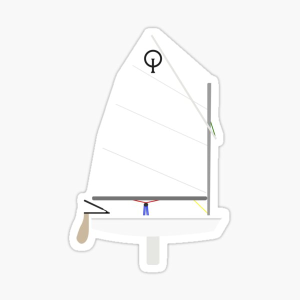 Optimist Sailboat Sticker