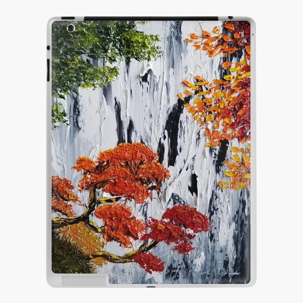 Waterfall Painting Fall Foliage Art Autumn Trees Orange Leaves Waterfall Bag Fall Tote Rustic Decor Rustic Charm Ipad Case Skin By Roxanegabriel Redbubble