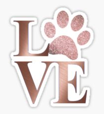 Love is a Four Letter Word - Marble and Rose Gold  Sticker
