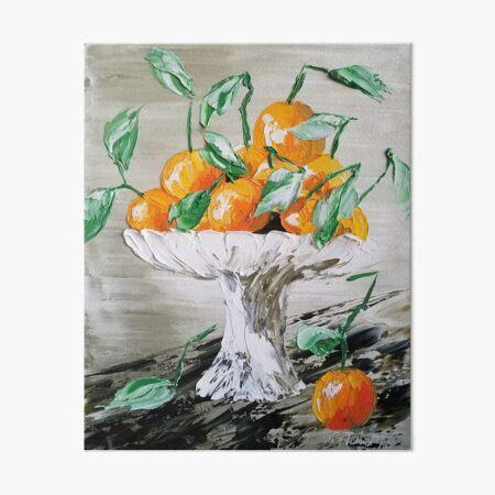 Oranges Art, Fruit Artwork, Vintage Fruit Print, Still Life, modern impressionism, cool textured art, oranges tote, oranges handbag, oranges case Art Board Print