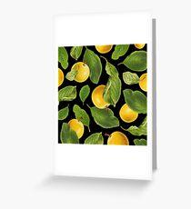 Botanical Vintage Fruit Greeting Card