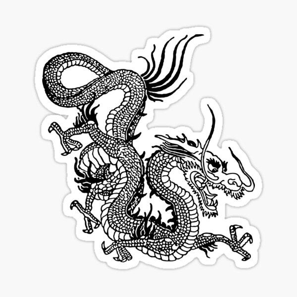 Chinese White Dragon Sticker