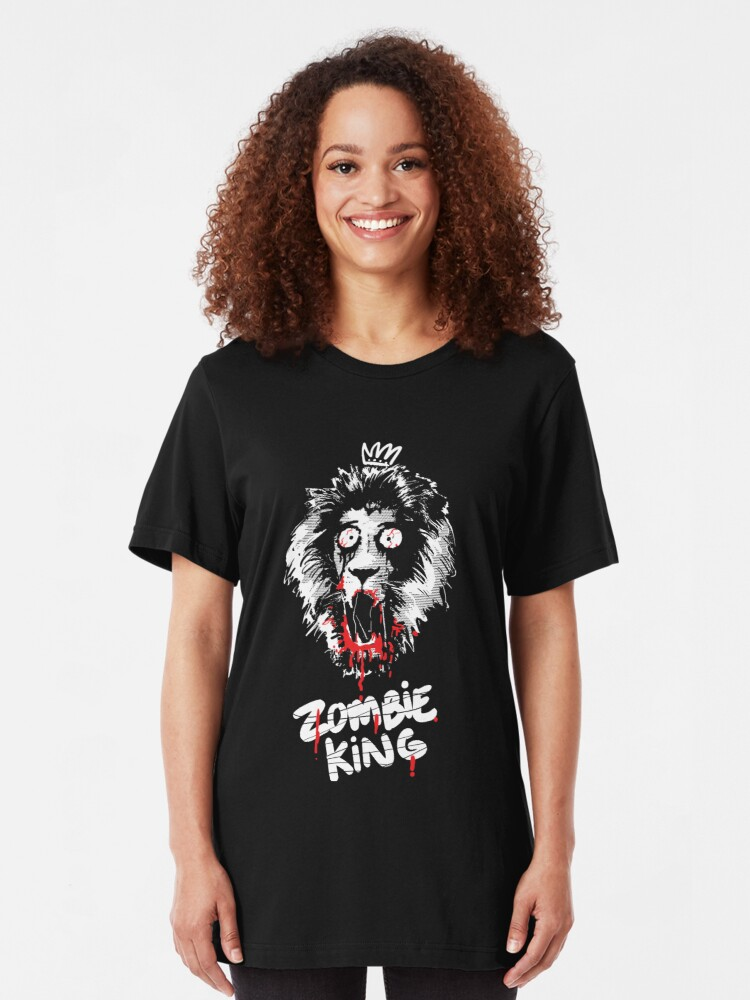Alternate view of Zombie king Slim Fit T-Shirt