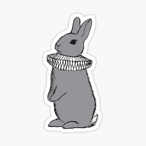 Frilly Rabbit Sticker