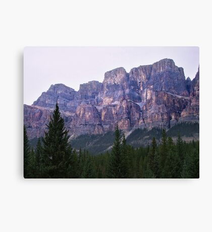 Castle Mountain Sunset Canvas Print