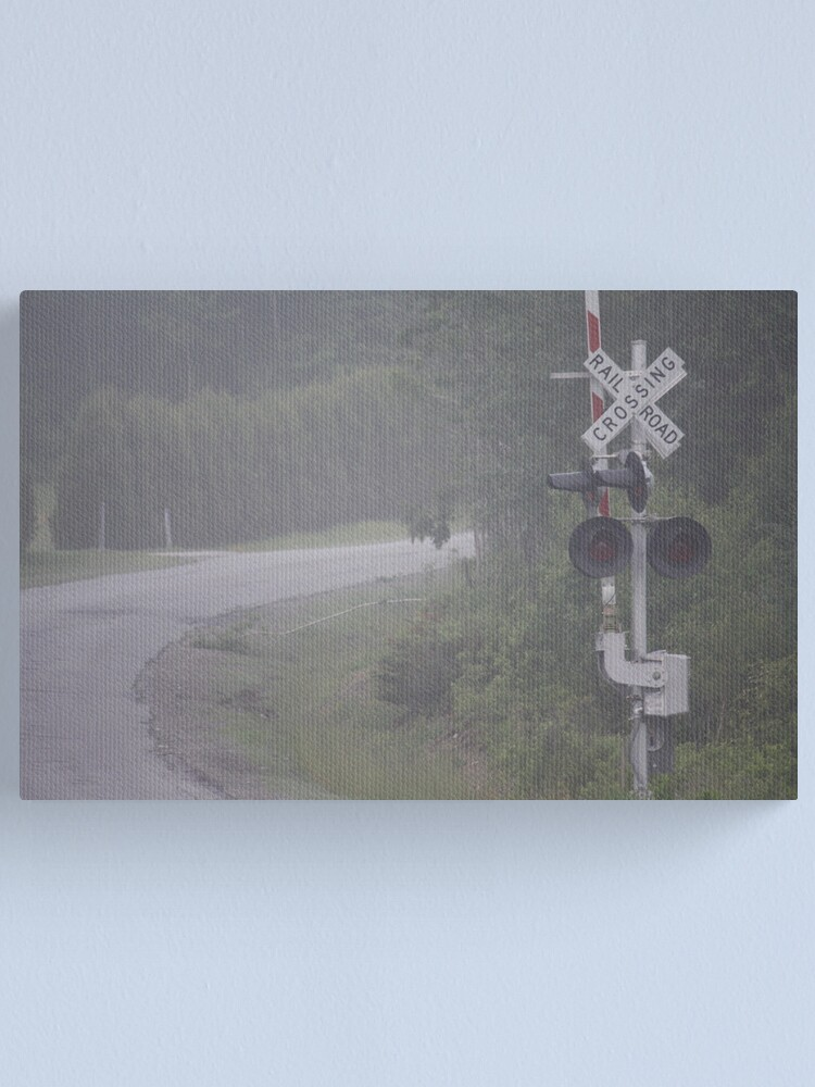 Alternate view of Railroad Crossing Canvas Print