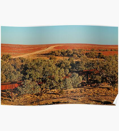 North Creek, Oodnadatta Track, Outback South Australia Poster