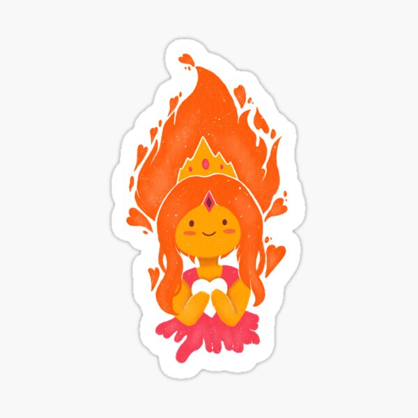 This Princess is on Fire! Sticker