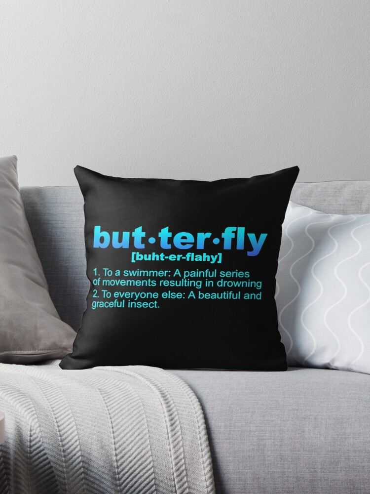 Swimming Throw Pillow By Sifasunny Redbubble