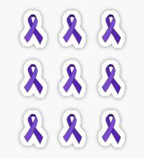 Purple Awareness Ribbon Set Sticker