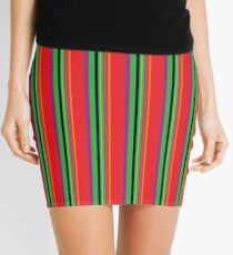 Mod Stripes by 'Chillee Wilson' Mini Skirt