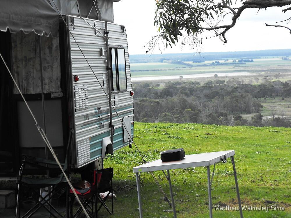 Camping at kingsview by Matthew Walmsley-Sims