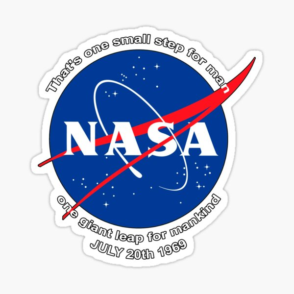 NASA Patch One Small Step Moon Landing Sticker