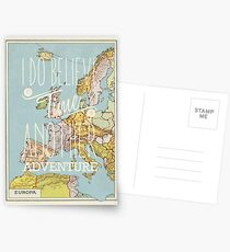 I do believe it's time for another adventure - Europe Postcards
