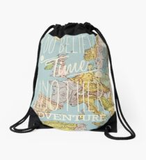 I do believe it's time for another adventure - Europe Drawstring Bag