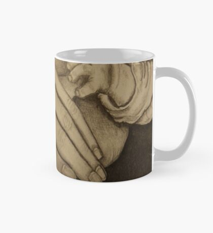 Mother and newborn hold hands Mug