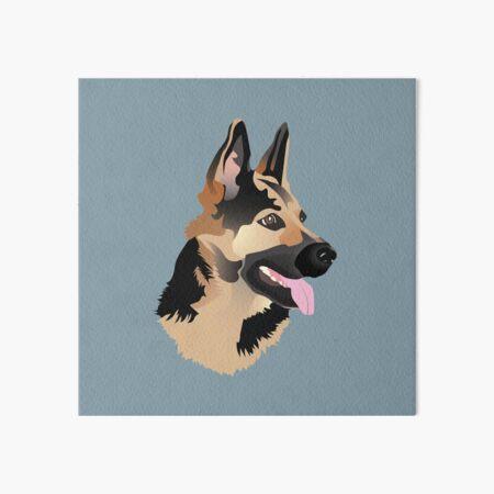 German Shepherd Art Board Print