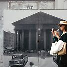 Pantheon of Rome Vintage Photo with Turist by Anna Lemos