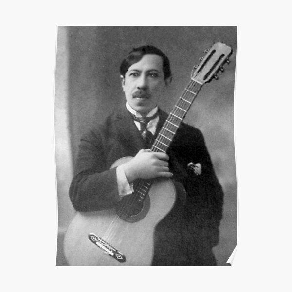 Augustin Barrios - brillant guitariste et compositeur paraguayen Poster