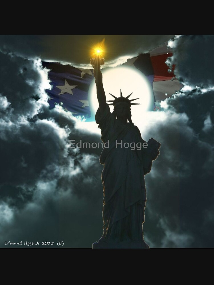 Statue of Liberty with American Flag by EdmondHoggeJr