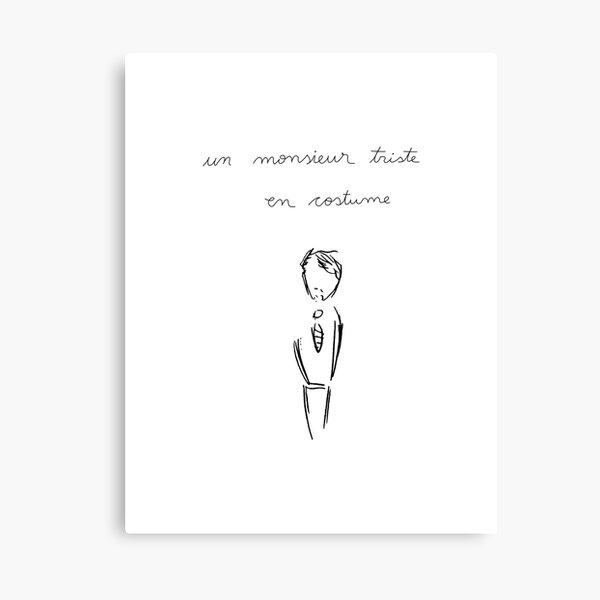 A Sad Man in a Suit - Un Monsieur Triste en Costume - Patriot Tv Show Canvas Print