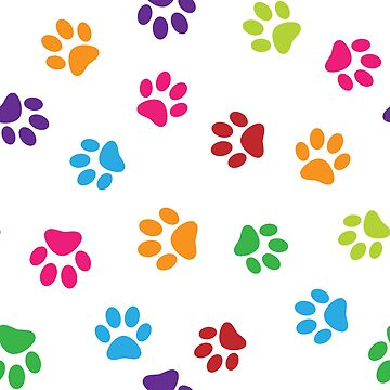 Colorful paws pattern by florintenica