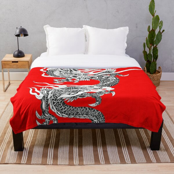 Twisting Dragon Throw Blanket