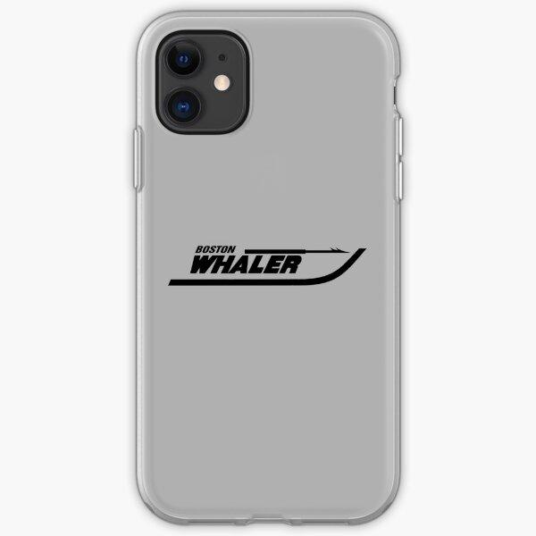 Boston Whaler logo in black iPhone Soft Case