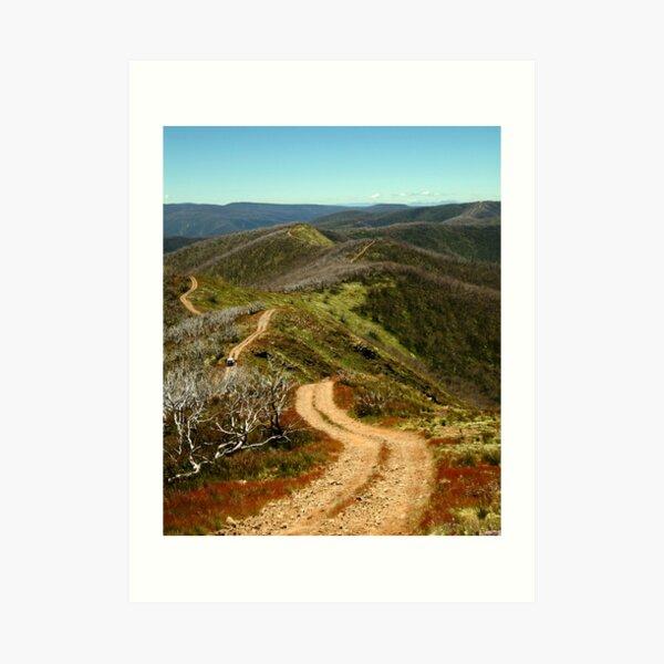 Razor Back Drive,Mt Blue Rag Art Print