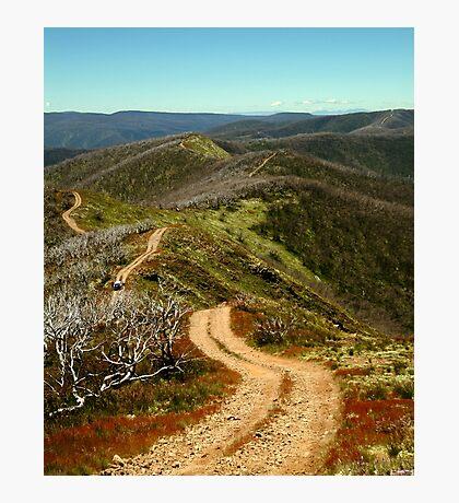 Razor Back Drive,Mt Blue Rag Photographic Print