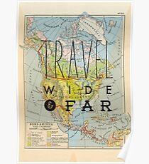 Travel Wide & Far - North America Poster